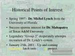 historical points of interest