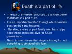 death is a part of life