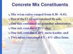 concrete mix constituents1
