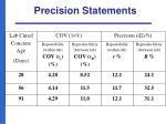 precision statements