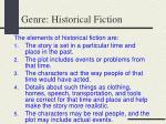 genre historical fiction
