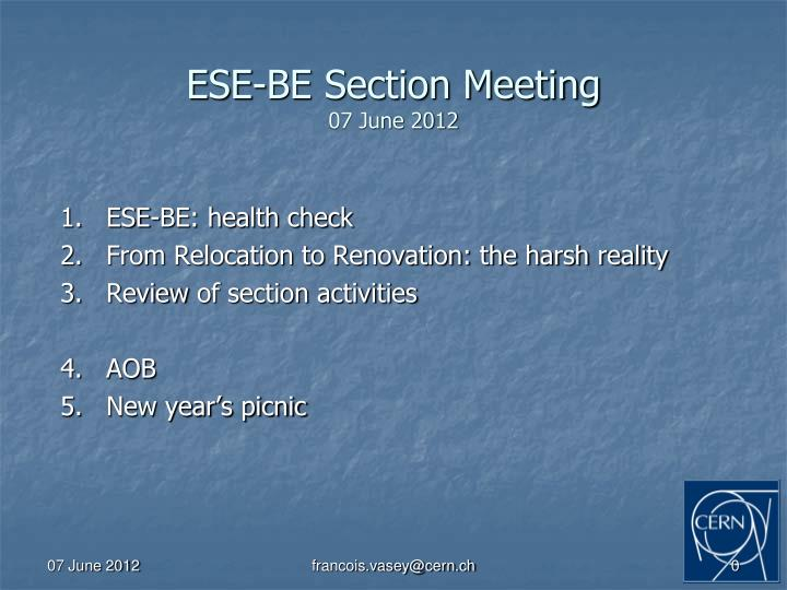 ese be section meeting 07 june 2012 n.