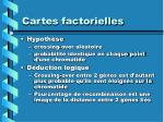 cartes factorielles