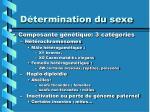 d termination du sexe