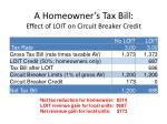a homeowner s tax bill effect of loit on circuit breaker credit