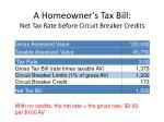 a homeowner s tax bill net tax rate before circuit breaker credits