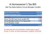 a homeowner s tax bill net tax rate before circuit breaker credits1