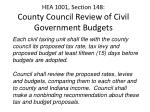 hea 1001 section 148 county council review of civil government budgets