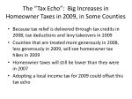 the tax echo big increases in homeowner taxes in 2009 in some counties