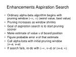 enhancements aspiration search