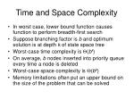time and space complexity1
