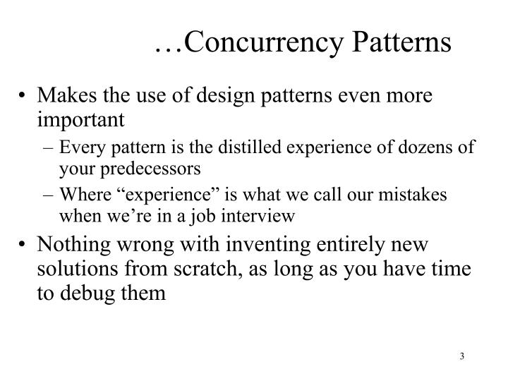 Concurrency patterns1