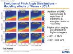 evolution of pitch angle distributions modeling effects of waves ucla