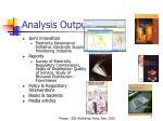 analysis outputs