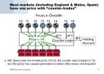 most markets including england wales spain have one price with counter trades