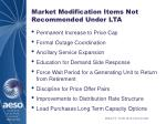market modification items not recommended under lta