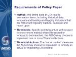 requirements of policy paper