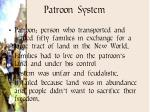 patroon system