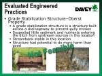 evaluated engineered practices