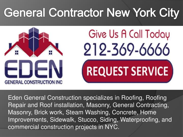 general contractor new york city n.