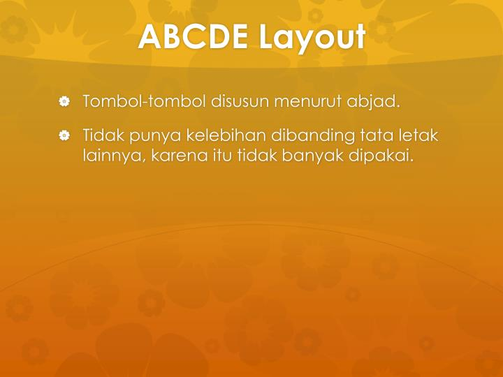 ABCDE Layout