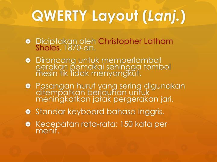 QWERTY Layout (