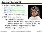 brainwave research 101