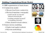 building computational brain models