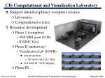 cis computational and visualization laboratory