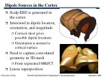 dipole sources in the cortex