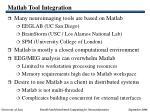 matlab tool integration