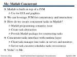 mc matlab concurrent