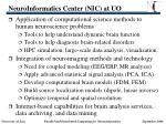 neuroinformatics center nic at uo