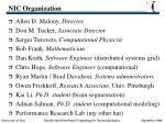 nic organization