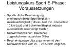 leistungskurs sport e phase voraussetzungen1