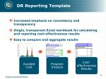 dr reporting template