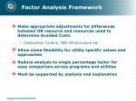 factor analysis framework