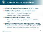 financial pro forma updates