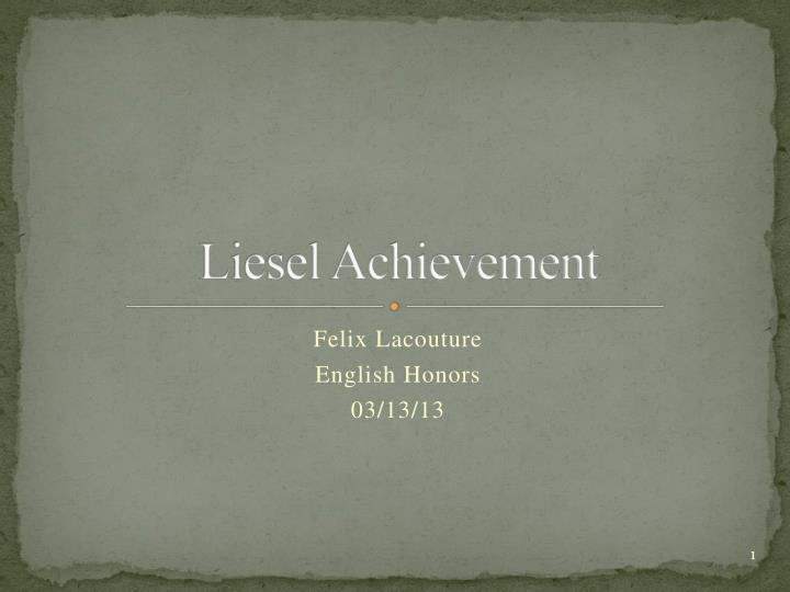 liesel achievement n.
