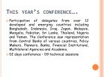 this year s conference
