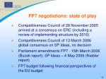 fp7 negotiations state of play