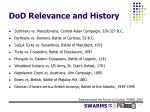 dod relevance and history