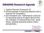swarms research agenda1