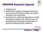 swarms research agenda2