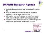 swarms research agenda7