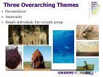 three overarching themes