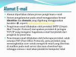 alamat e mail