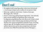 client e mail