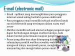 e mail electronic mail