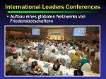 international leaders conferences